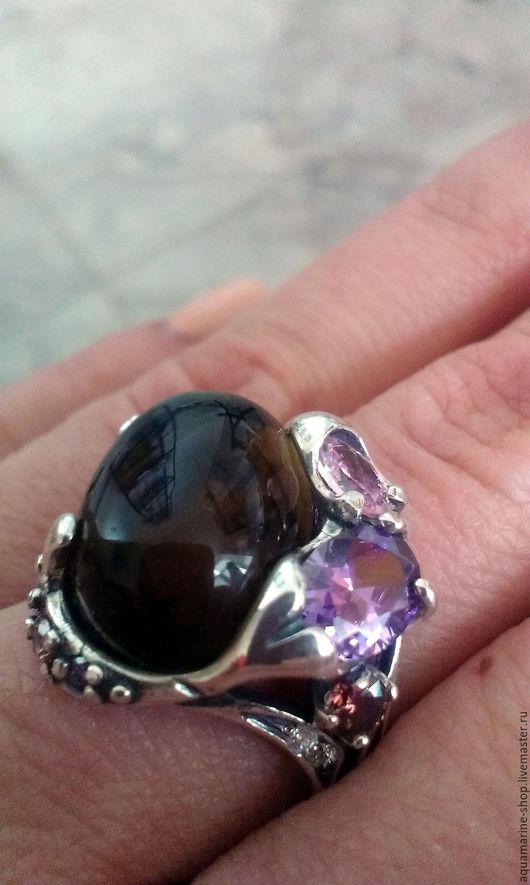 Кольца ручной работы. Ярмарка Мастеров - ручная работа. Купить Кольцо Мист. Handmade. Комбинированный, серебро, кольцо, розовый кварц