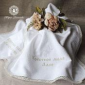 Работы для детей, handmade. Livemaster - original item Towels godfather. Handmade.