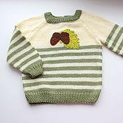 Работы для детей, ручной работы. Ярмарка Мастеров - ручная работа Детский свитер Желуди. Handmade.