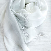 Свадебный салон handmade. Livemaster - original item White luxury thin female stole from Gucci fabric