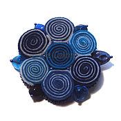 handmade. Livemaster - original item Brooch Blue flower. Handmade.
