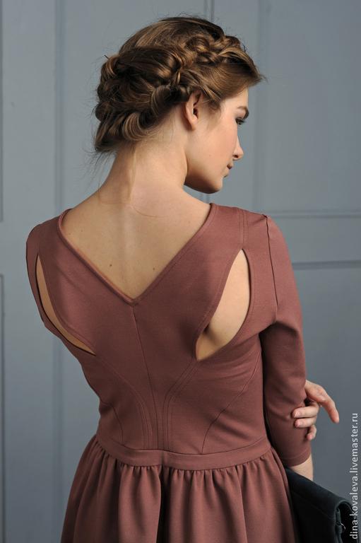Платья ручной работы. Ярмарка Мастеров - ручная работа. Купить Платье Какао с молоком. Handmade. Платье, красивое платье, кармашки