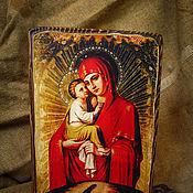 Картины и панно ручной работы. Ярмарка Мастеров - ручная работа Почаевская икона Божией матери. Handmade.