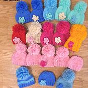 Куклы и игрушки ручной работы. Ярмарка Мастеров - ручная работа шапочки вязаные для куколки. Handmade.