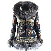 Одежда handmade. Livemaster - original item Jacket with black and brown Fox fur. Handmade.
