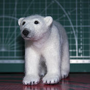 Куклы и игрушки handmade. Livemaster - original item felt toy: Polar bear. Handmade.