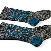 Носки ручной работы. Ярмарка Мастеров - ручная работа Вязаные носки ручной работы с орнаментом. Handmade.