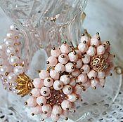 Украшения handmade. Livemaster - original item Bracelet of Czech glass flower beads Floral Rhapsody. Handmade.