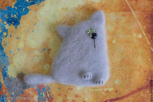 """Магниты ручной работы. Ярмарка Мастеров - ручная работа. Купить """"Кот ромашковый, британский"""" валяный из шерсти магнит на холодильник.. Handmade."""
