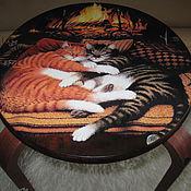 Для дома и интерьера handmade. Livemaster - original item Stool by the fireplace. Handmade.