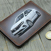 Канцелярские товары handmade. Livemaster - original item Cover for car documents with a picture of your car. Handmade.
