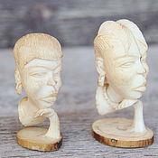 Винтаж ручной работы. Ярмарка Мастеров - ручная работа Слоновая кость. Статуэтки из Конго. Handmade.