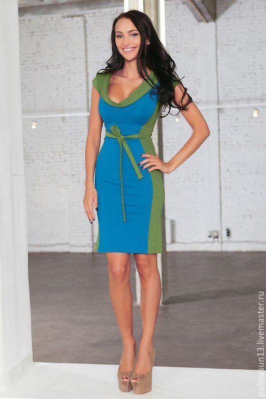 Платья ручной работы. Ярмарка Мастеров - ручная работа. Купить Платье Fashion. Handmade. Синий, праздничное платье, Синее платье