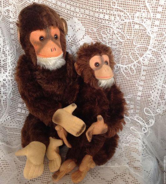 Винтажные куклы и игрушки. Ярмарка Мастеров - ручная работа. Купить Винтажные обезьянки Hermann -20% от цены. Handmade. Коричневый, мохер