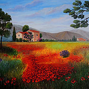 "Картины и панно handmade. Livemaster - original item ""Tuscany. Poppies"" oil Painting. Handmade."