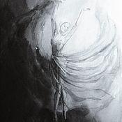 Картины и панно handmade. Livemaster - original item Painting watercolor Ballerina. Handmade.