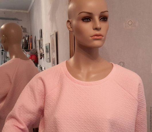 Блузки ручной работы. Ярмарка Мастеров - ручная работа. Купить свитшот из капитония. Handmade. Бледно-розовый, свитшот, кофта