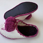 Обувь ручной работы handmade. Livemaster - original item Home Slippers ( wool ). Handmade.