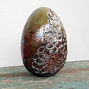 Для дома и интерьера ручной работы. Ярмарка Мастеров - ручная работа Яйцо керамическое раку. Handmade.