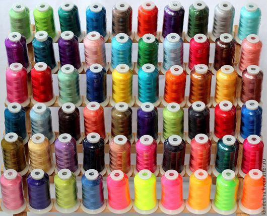 Вышивка ручной работы. Ярмарка Мастеров - ручная работа. Купить Набор ниток для машинной вышивки 60 цветов Polyester 100%. Handmade.