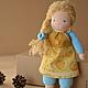 Вальдорфская игрушка ручной работы. Ярмарка Мастеров - ручная работа. Купить Вальдорфская кукла Белла. Handmade. Вальдорфская кукла, букле