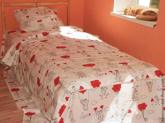 Текстиль, ковры ручной работы. Ярмарка Мастеров - ручная работа. Купить Поплин - комплект постельного белья. Handmade. Комбинированный