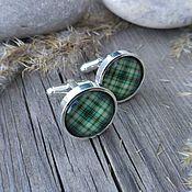 Украшения handmade. Livemaster - original item Cufflinks silver plated Cage green (large). Handmade.