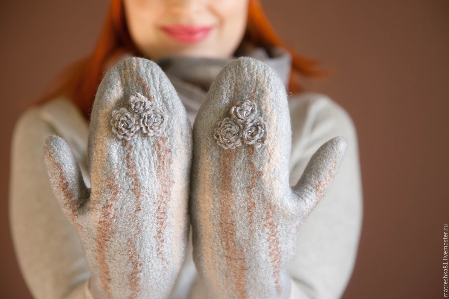 Warm felted mittens, Mittens, Khabarovsk,  Фото №1