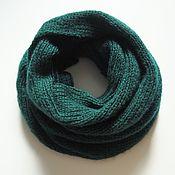 Аксессуары handmade. Livemaster - original item Snudy: Snood scarf knitted in an elastic band in 2 turns green. Handmade.