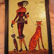 Картины и панно ручной работы. Ярмарка Мастеров - ручная работа Девушка с зонтом. Handmade.