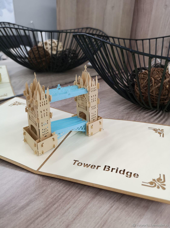 Лондон - 3D открытка / сувенир ручной работы, Модели, Москва,  Фото №1