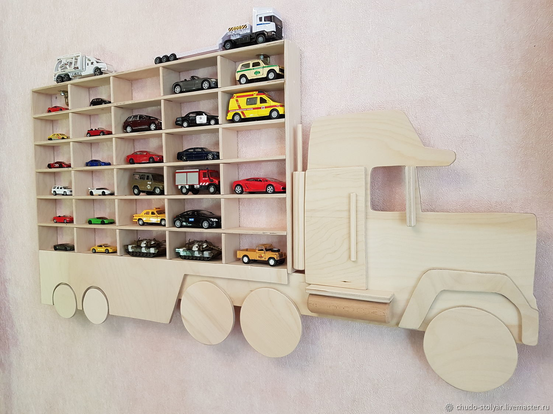 """Полка-грузовик """"MACK"""" без покраски с увеличенными 30 ячейками"""
