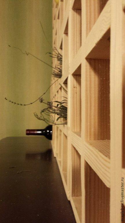 Мебель ручной работы. Ярмарка Мастеров - ручная работа. Купить Винный стеллаж без покрытия. Handmade. Белый, натуральное дерево