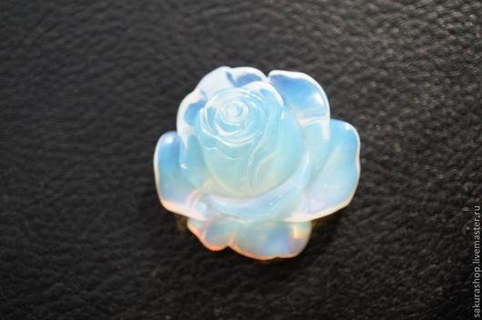 Для украшений ручной работы. Ярмарка Мастеров - ручная работа. Купить Розочка из лунного камня подвеска 35 мм. Handmade.
