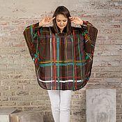 Одежда handmade. Livemaster - original item Blouse made of Italian viscose chocolate color large size. Handmade.