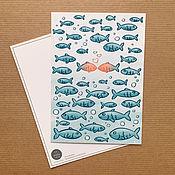 Открытки ручной работы. Ярмарка Мастеров - ручная работа влюбленные рыбки. Handmade.
