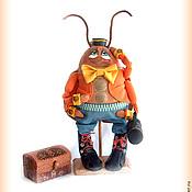 Куклы и игрушки ручной работы. Ярмарка Мастеров - ручная работа Таракан Тараканов - грунтованная кукла. Handmade.