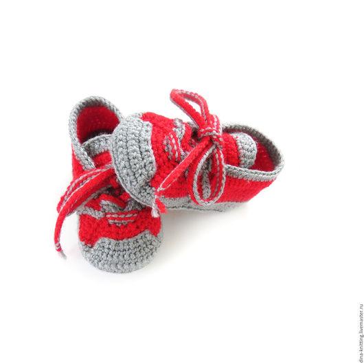 пинетки кроссовки вязаные для девочки, пинетки кроссовки для мальчика, пинетки вязаные, пинетки детские