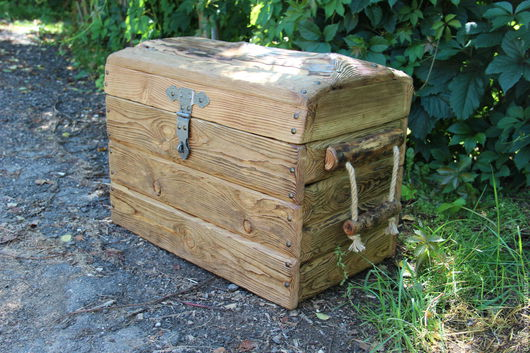 """Мини-комоды ручной работы. Ярмарка Мастеров - ручная работа. Купить Сундук деревянный """"Матроскин"""". Handmade. Сундук, ящик из дерева"""