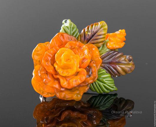 подарок на годовщину, брошь булавка, брошь, подарок, оранжевый, подарок на любой случай, украшение бижутерия
