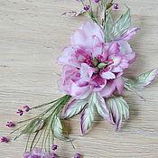 Украшения handmade. Livemaster - original item Brooch transformer Cascade of silk flowers. Handmade.
