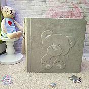Фотоальбомы ручной работы. Ярмарка Мастеров - ручная работа В НАЛИЧИИ! Фотоальбом для малыша / альбом для мальчика. Handmade.