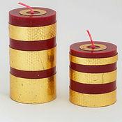 Свечи ручной работы. Ярмарка Мастеров - ручная работа Свечи: Комплект Золотые полосы. Handmade.