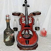 Сувениры и подарки handmade. Livemaster - original item Personalized Souvenirs: Mini bar, butylamine Fiddle with Your monogram. Handmade.