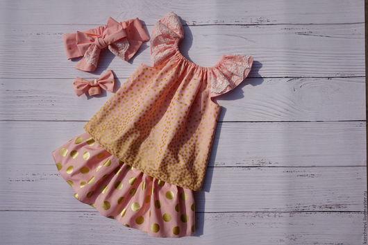 """Одежда для девочек, ручной работы. Ярмарка Мастеров - ручная работа. Купить Комплект для девочки """"золотой орошек"""". Handmade. Комплект для девочки"""