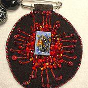 Брошь-булавка ручной работы. Ярмарка Мастеров - ручная работа Броши: брызги красного. Handmade.