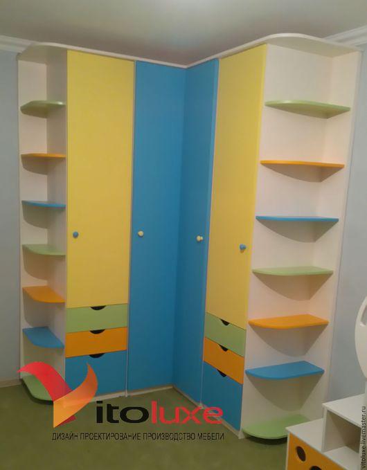 Детская ручной работы. Ярмарка Мастеров - ручная работа. Купить Угловой шкаф в детскую комнату. Handmade. Комбинированный, шкаф на заказ