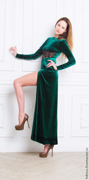 """Платья ручной работы. Ярмарка Мастеров - ручная работа. Купить Супер Цена Платье """"Изумруд"""". Handmade. Платье в пол"""