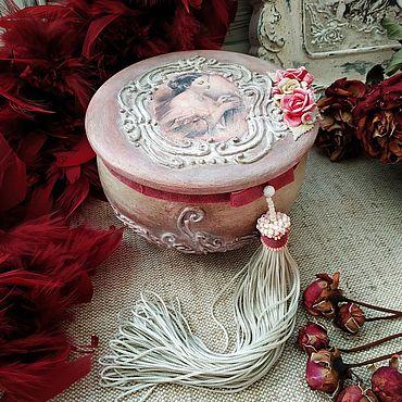 Для дома и интерьера ручной работы. Ярмарка Мастеров - ручная работа Винтажная с розами. Handmade.