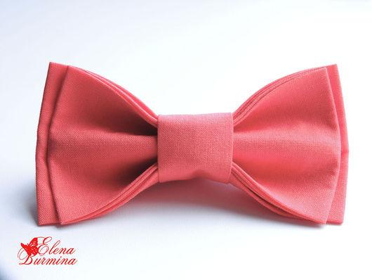 Галстуки, бабочки ручной работы. Ярмарка Мастеров - ручная работа. Купить Бабочка галстук коралловая. Handmade. Коралловый, бабочка-галстук